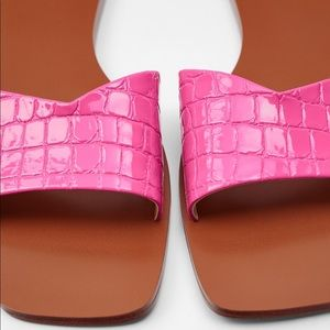 Zara animal print sandals